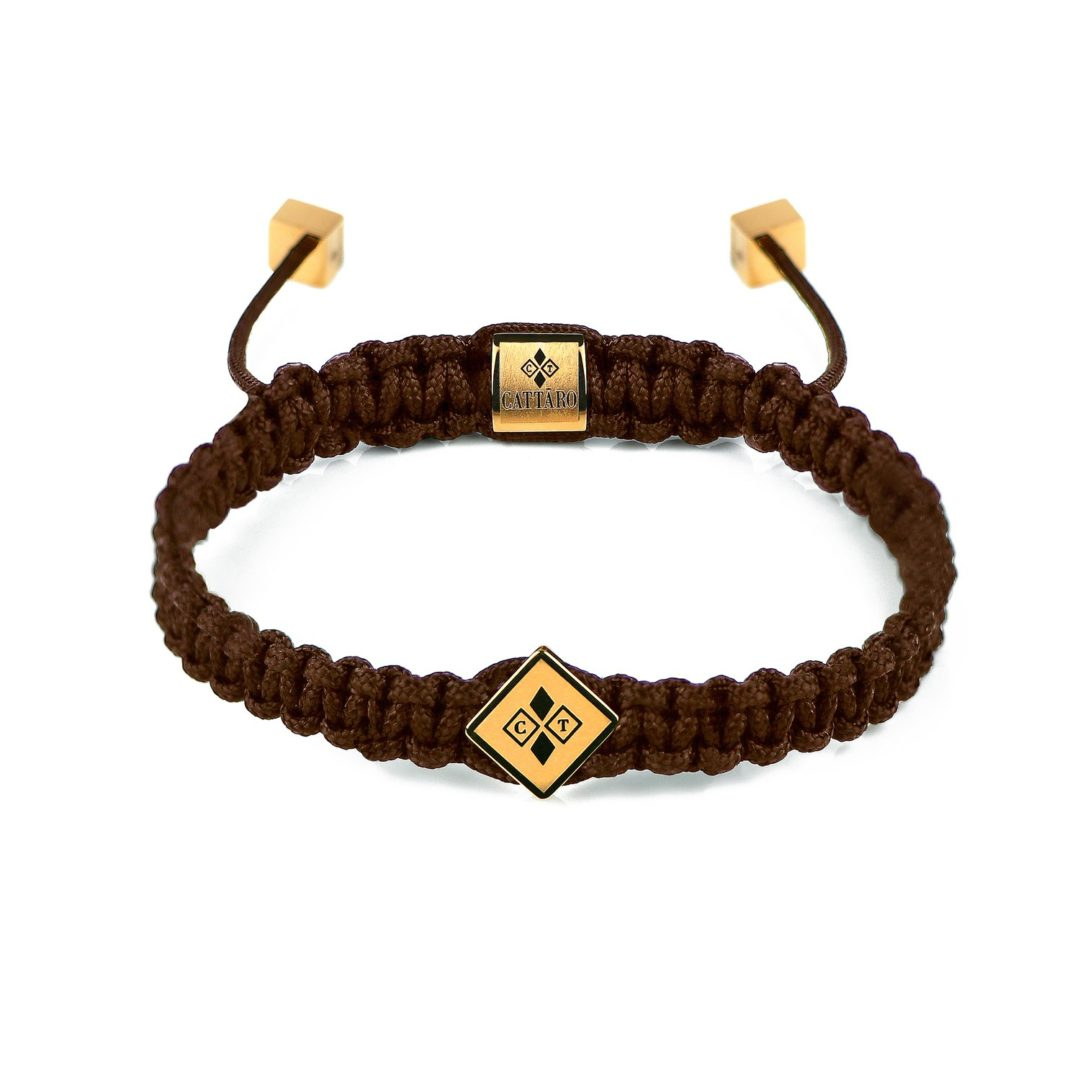 Cattaro | Rope Brown Armband braun gold