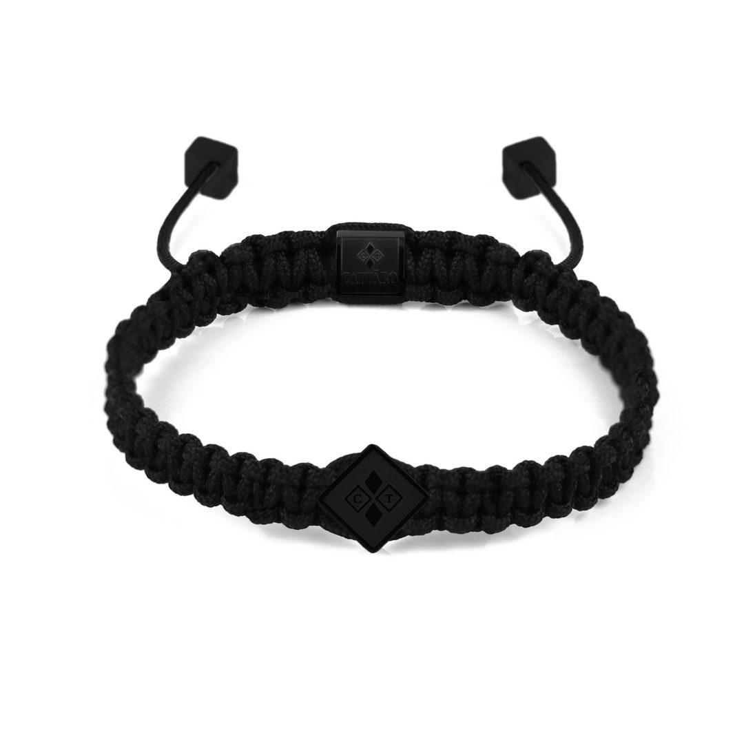 Cattaro | Rope All Black Armband schwarz
