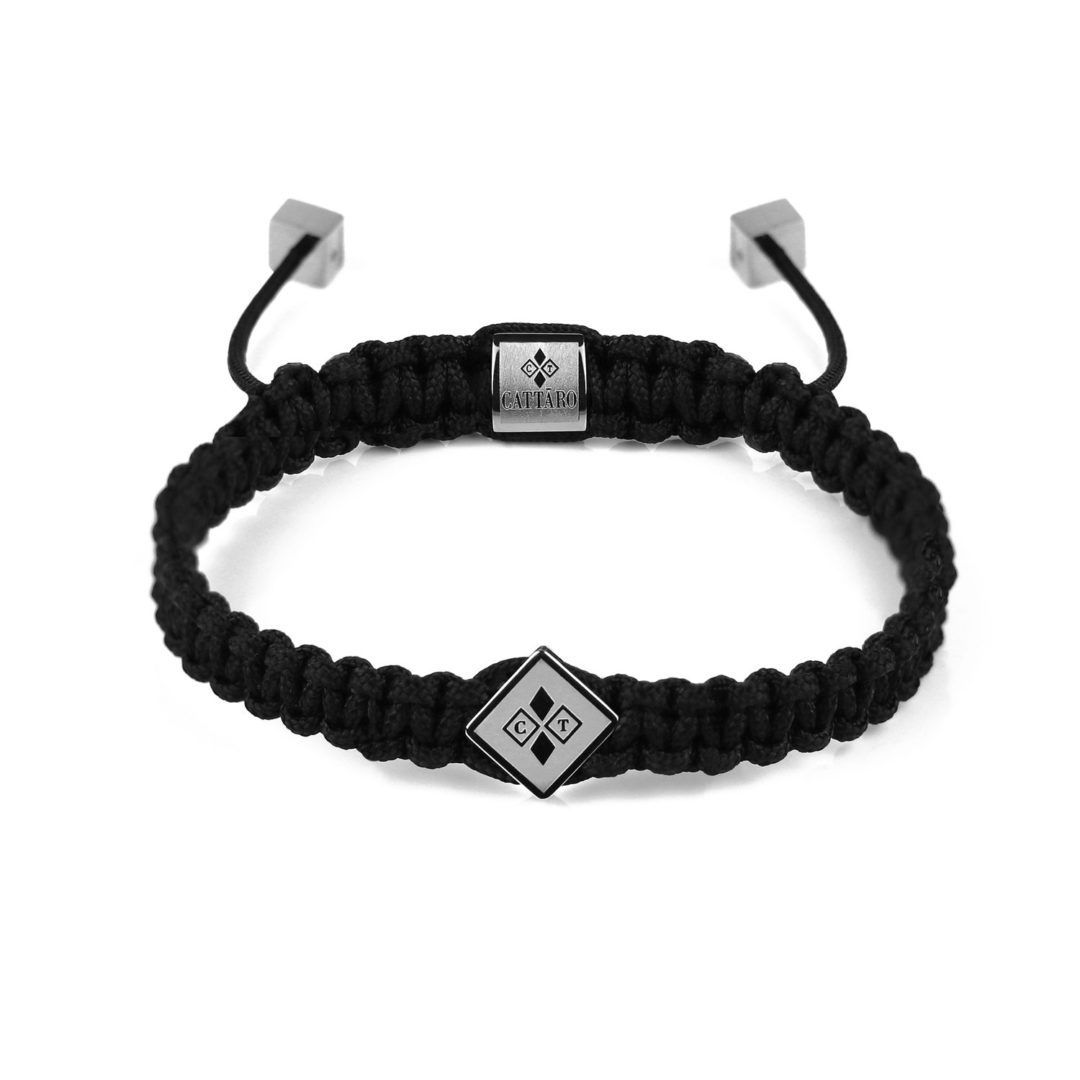 Cattaro | Rope Black and Silver - schwarz silber Armband