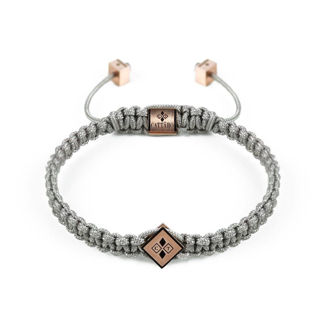 Cattaro - Rope Grey Rose Armband