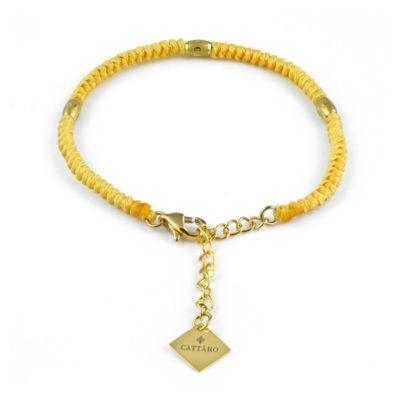 Cattaro - Rope Yellow & Gold Armband mit Gravur - Unisex