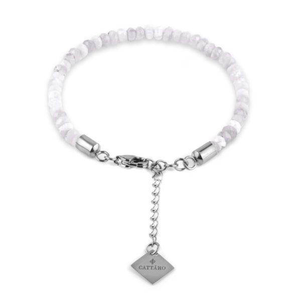 Cattaro - Lavendel Amethyst Steine Charm Armband mit Gravur- Unisex